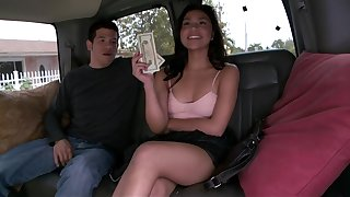 Young latina hops on the BangBus to josh