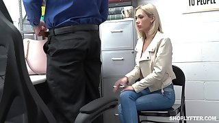 Guilty auburn slender bitch Tone Pierce is hammered by cop from behind