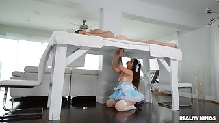 Interesting bunk bed gloryhole situation with Lacey Channing