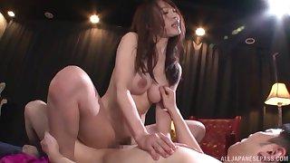 Video of X Japanese star Rinne Touka having nice MMF threesome