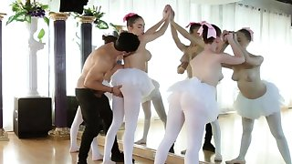 Sexy teen triptych and mature girl Ballerinas